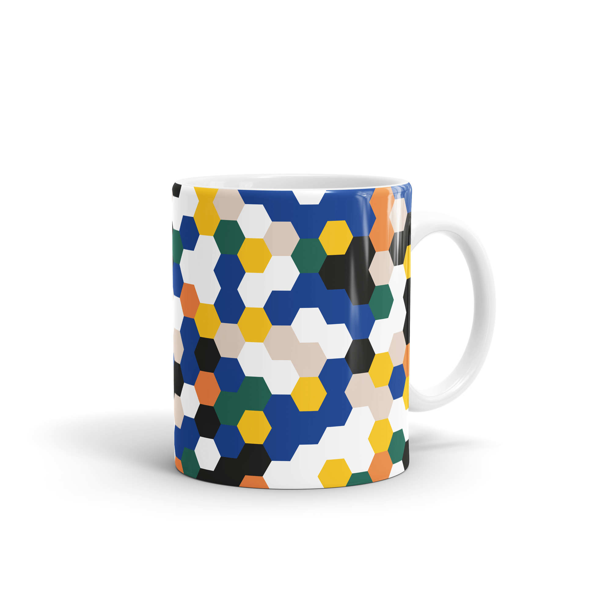 Hexagon Pattern Mug by WEEW Smart Design