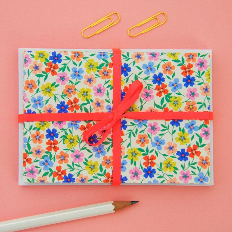 Set of 8 Mini Floral Notecards by Elvira Van Vredenburgh