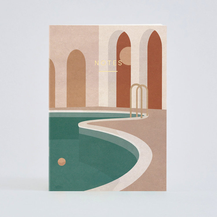 Pool with Arches A5 Notebook by Wrap