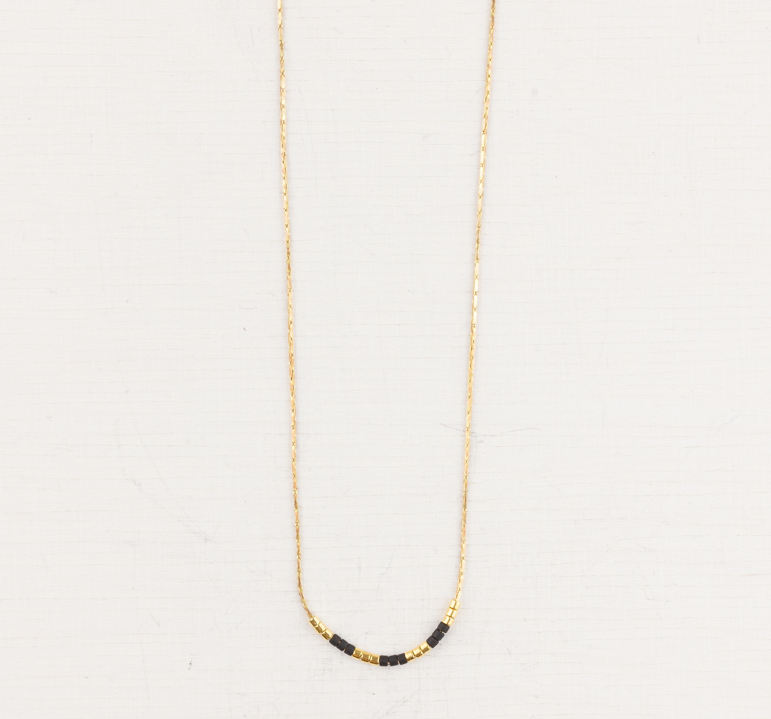 Miyuki Bead 24k Gold-plated Short Necklace by State of A