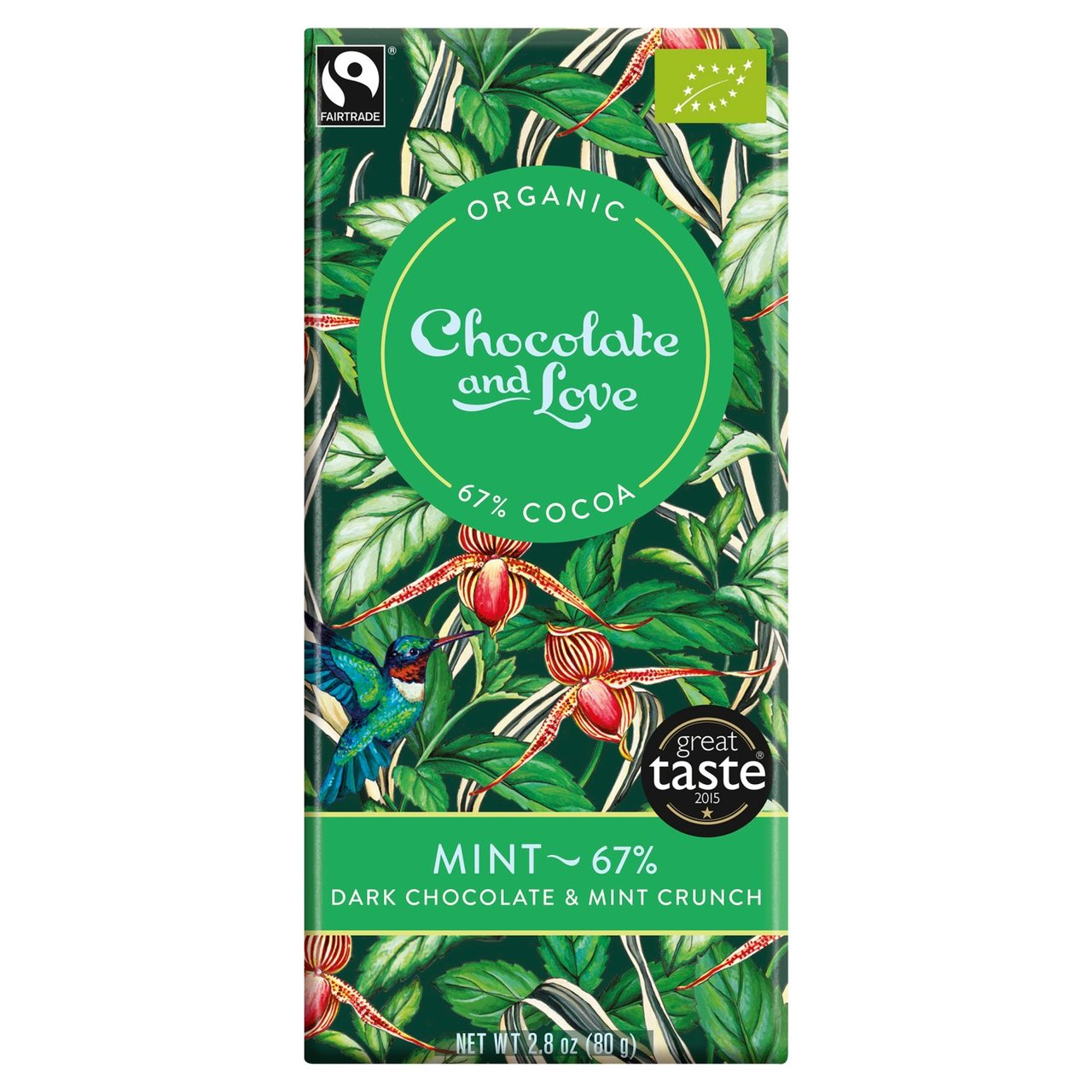 Mint Chocolate & Love Organic Fairtrade Chocolate Bar