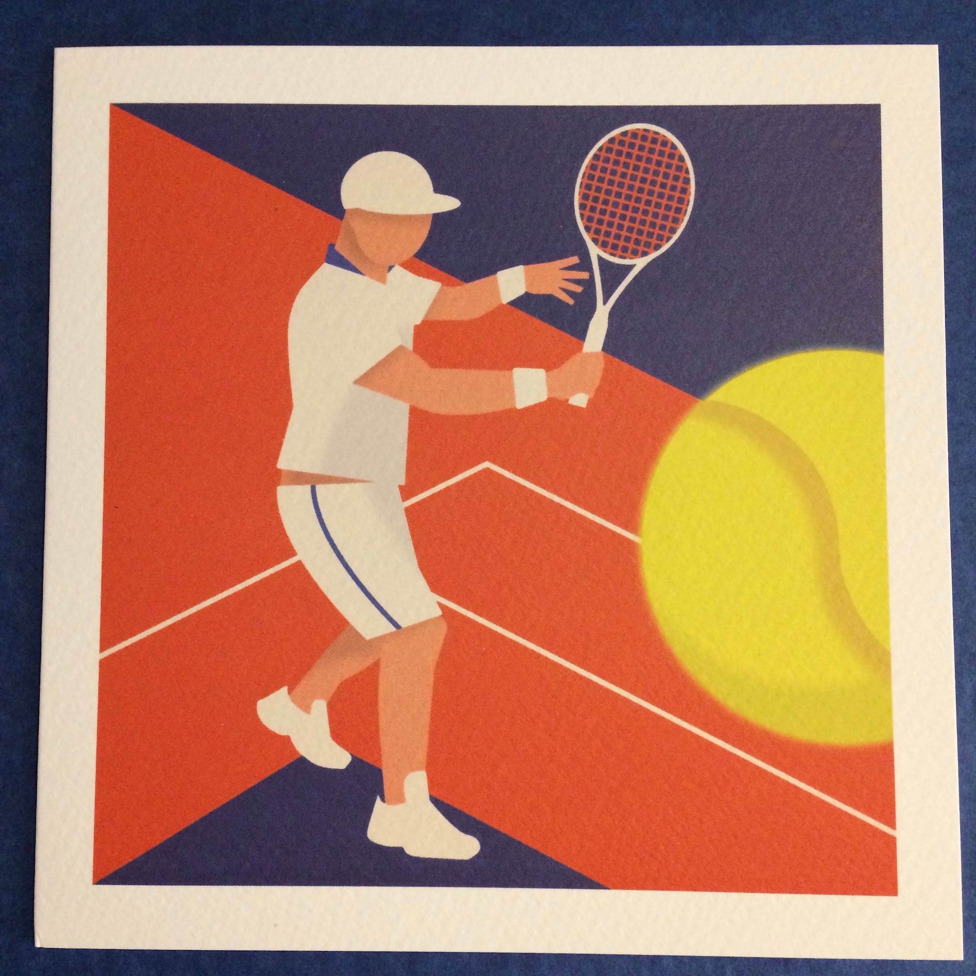 'New Balls' Tennis Greetings Card by Humbee