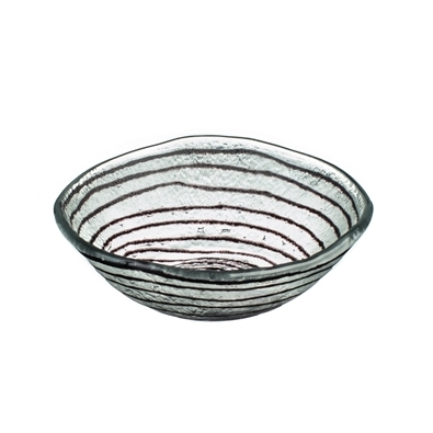 Miro Concentric Glass Dish Handmade in Egypt - Sale!