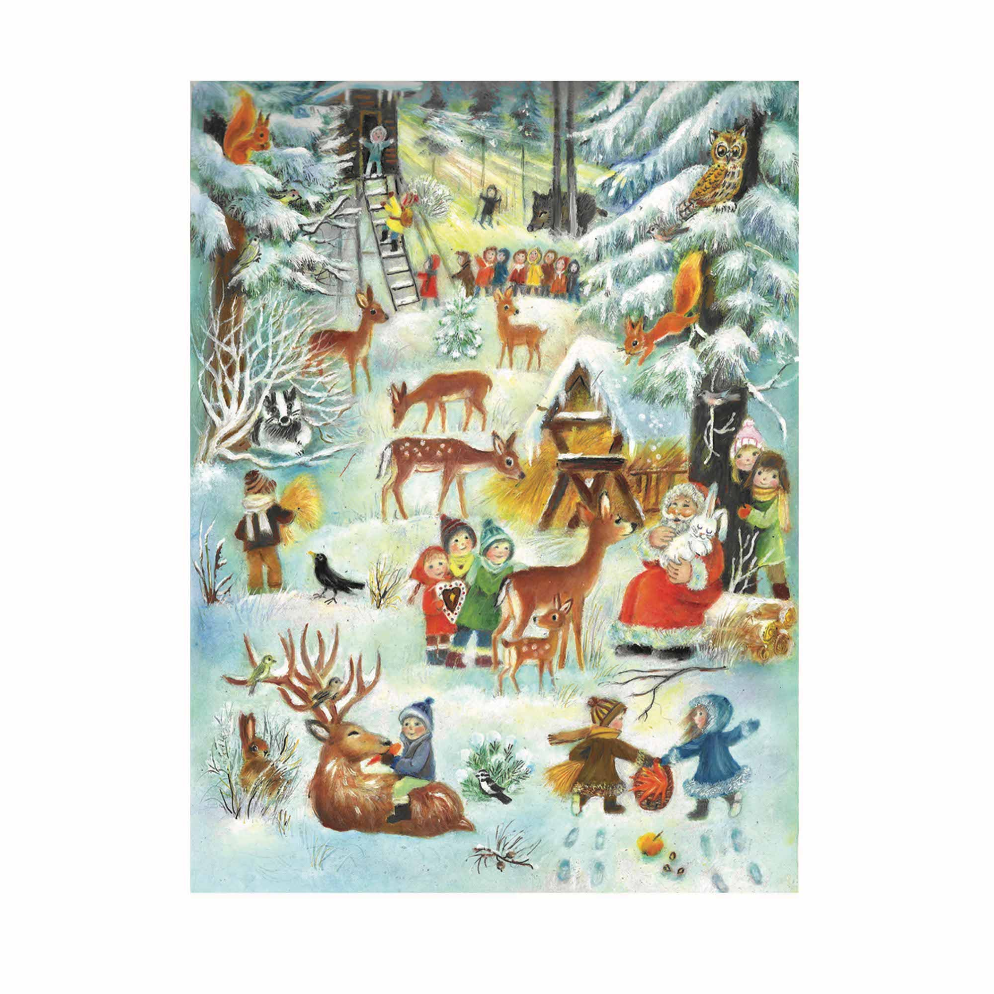 Large 'Christmas in the Woods' Advent Calendar