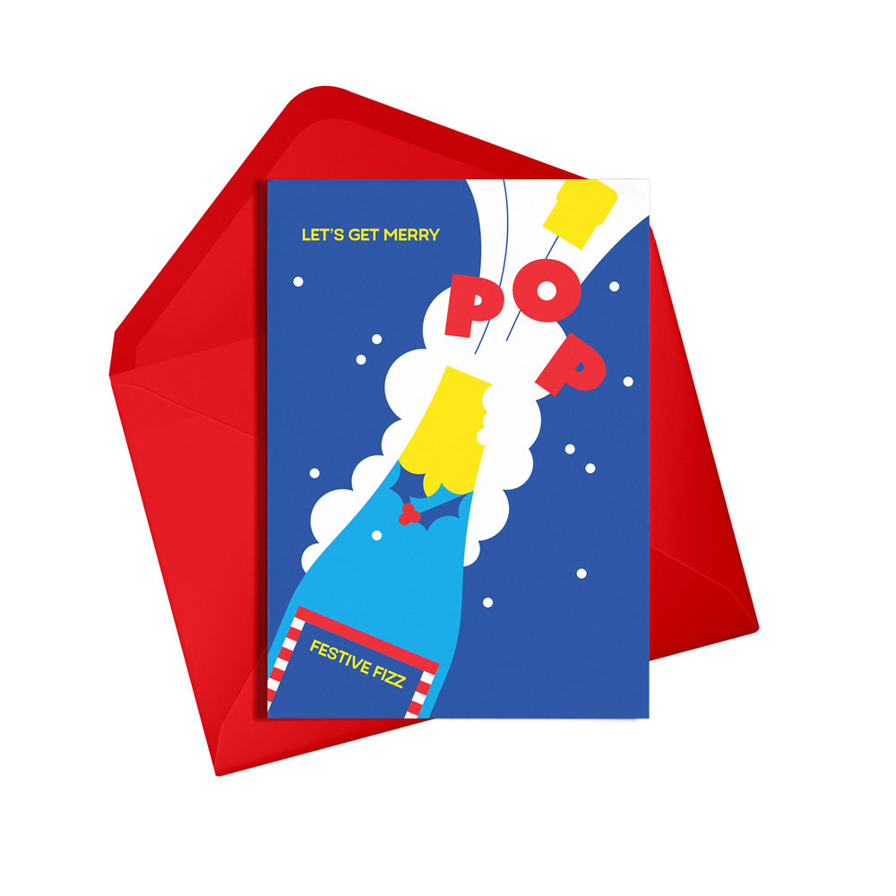 Let's Get Merry Festive Card by Alphablots