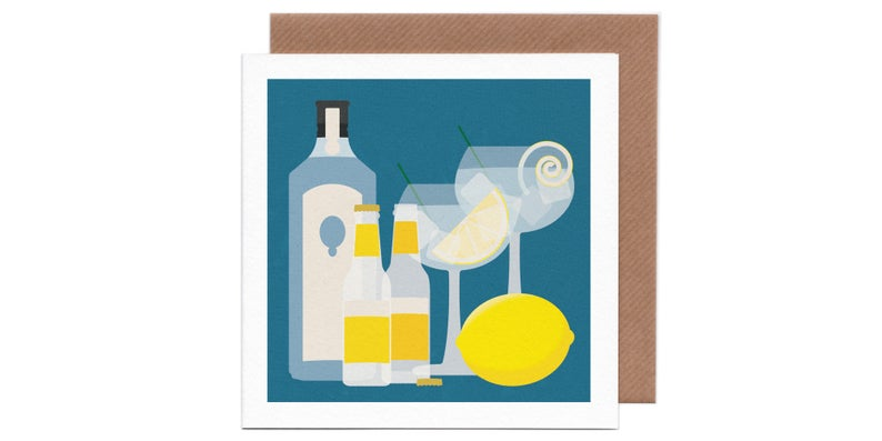 Cocktail Greetings Cards by Humbee