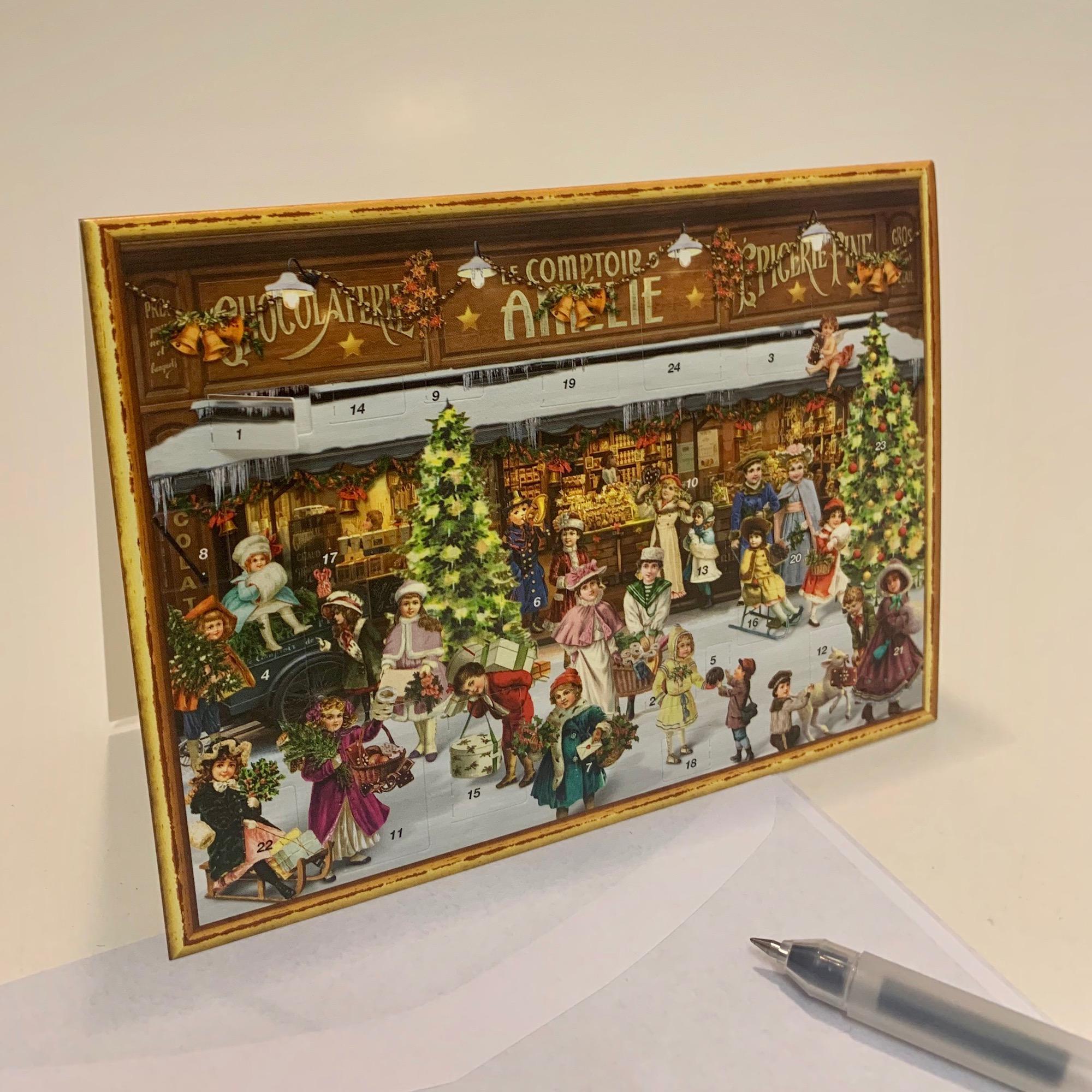 Mini 'Victorian Shop' Advent Calendar Card - Sale!