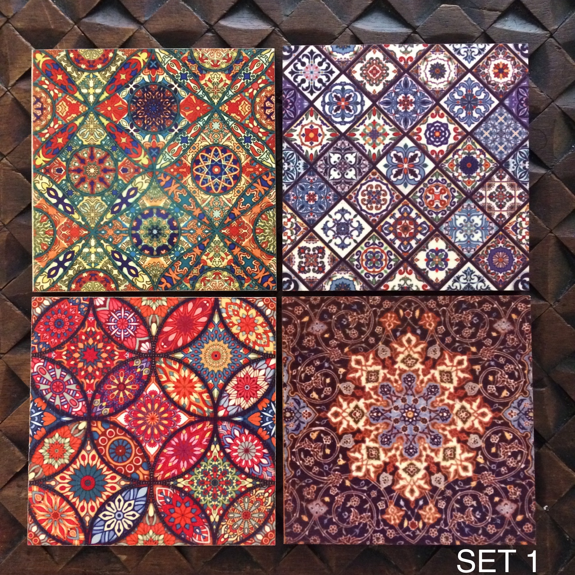 Set of Tile Pattern Coasters
