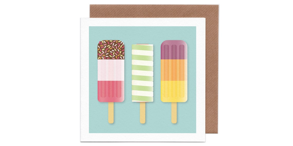 Ice Lolly Greetings Card by Humbee