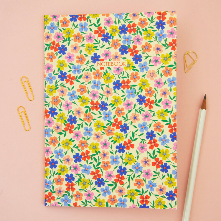 A5 'Floral' Notebook by Elvira Van Vredenburgh