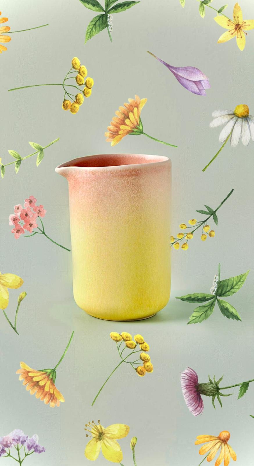 Candy Glazed Stoneware Jug