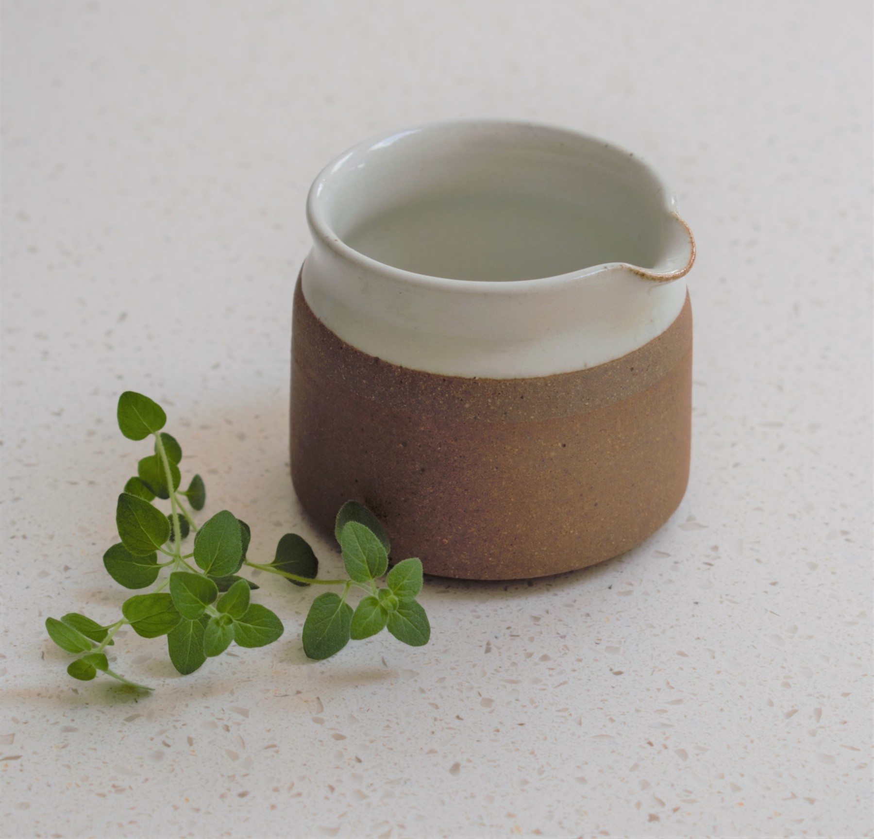 Stoneware Jug in Milk White