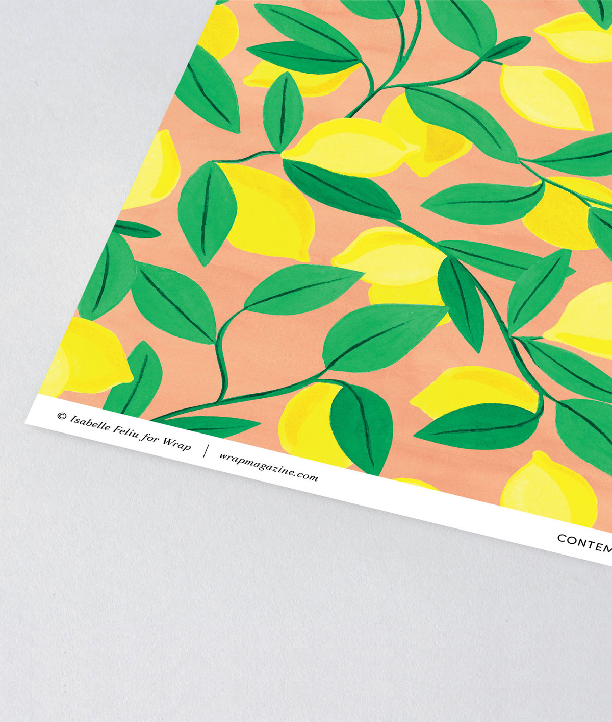Lemons Giftwrap by Wrap