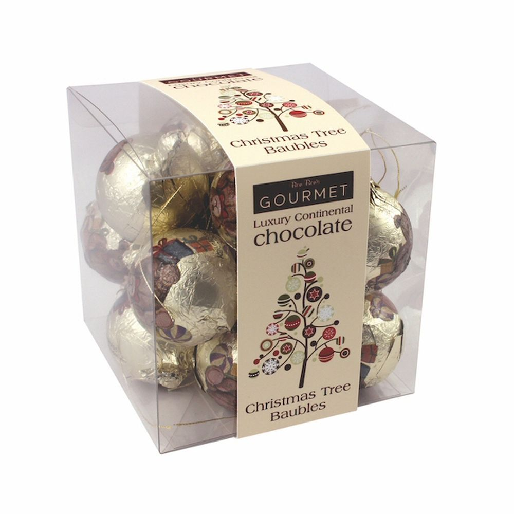 Chocolate Christmas Tree Baubles