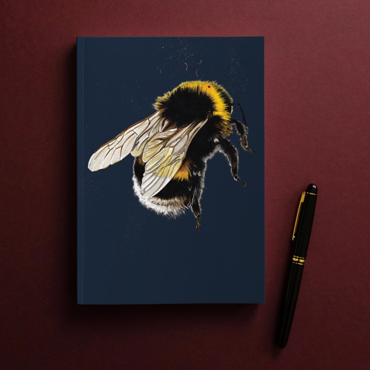 The Bee A5 Lined Notebook by Some Ink Nice