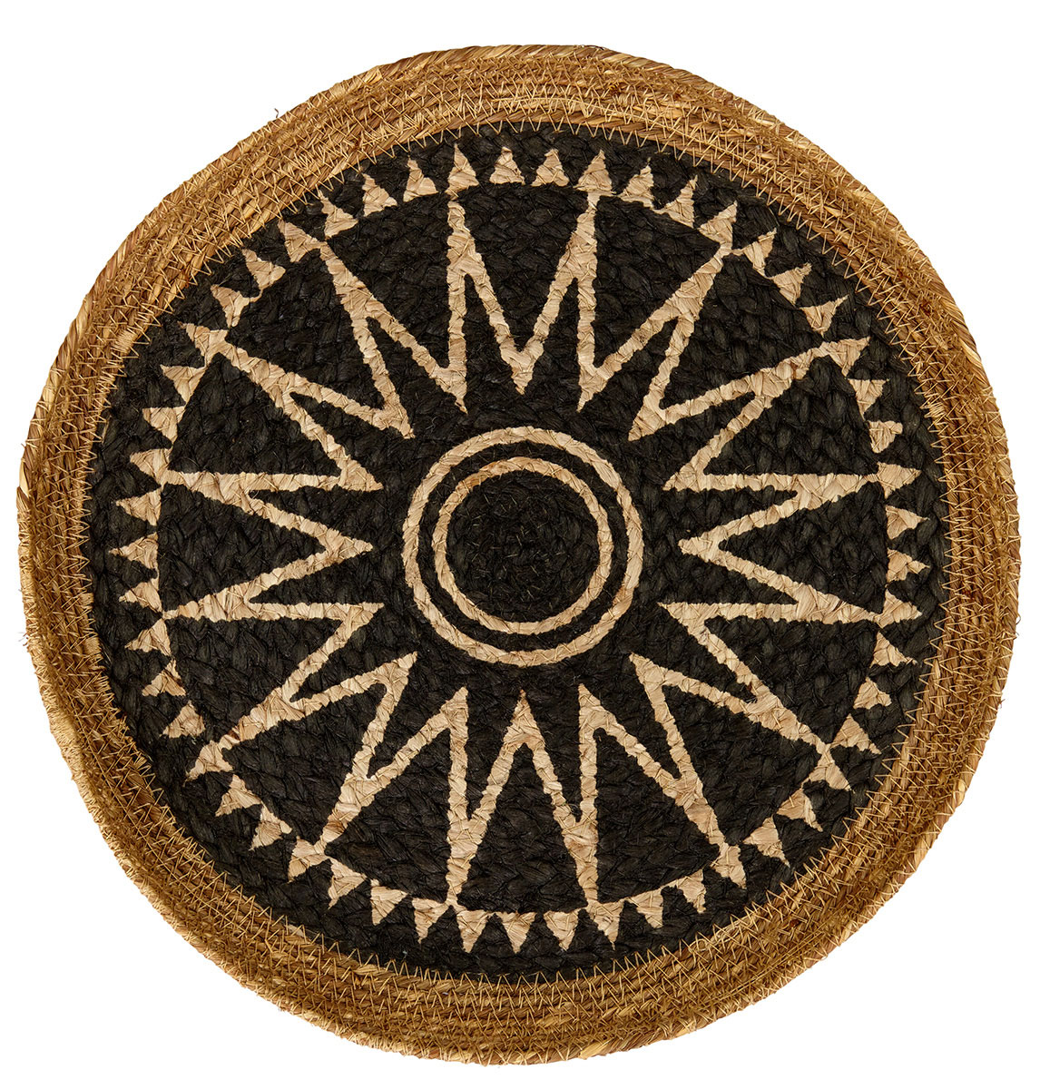 Liv Small Round Jute Disc with Star Design