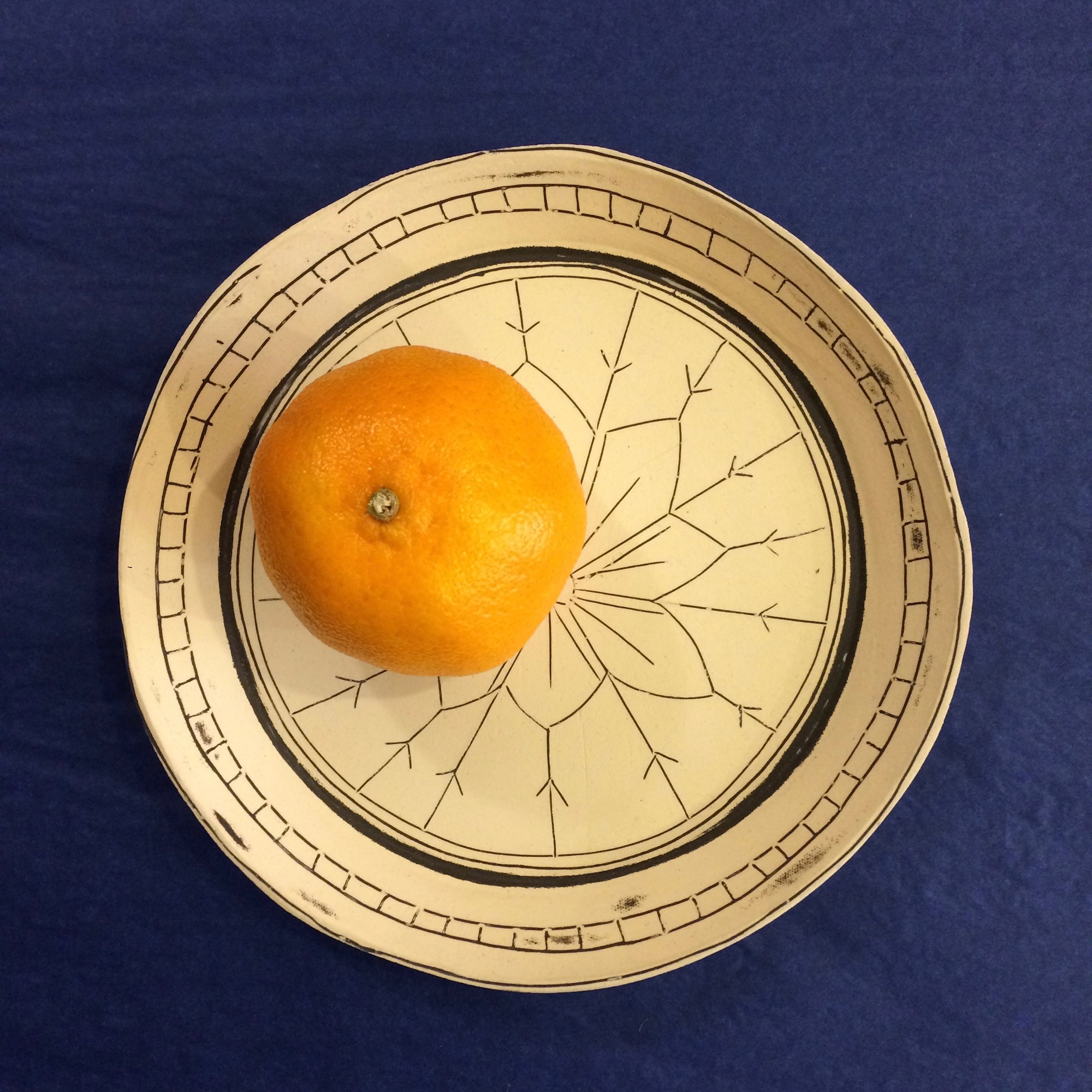 Small Stoneware Platter by Fiona Veacock