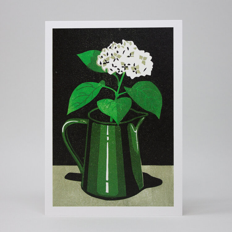 Hydrangea Screenprinted Card by Pressed & Folded