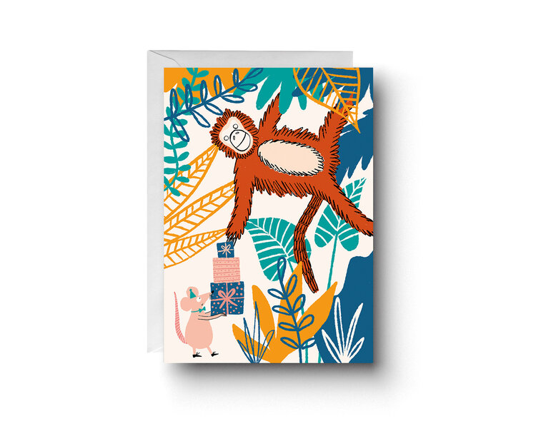 Cheeky Monkey Card by Abigail Burch