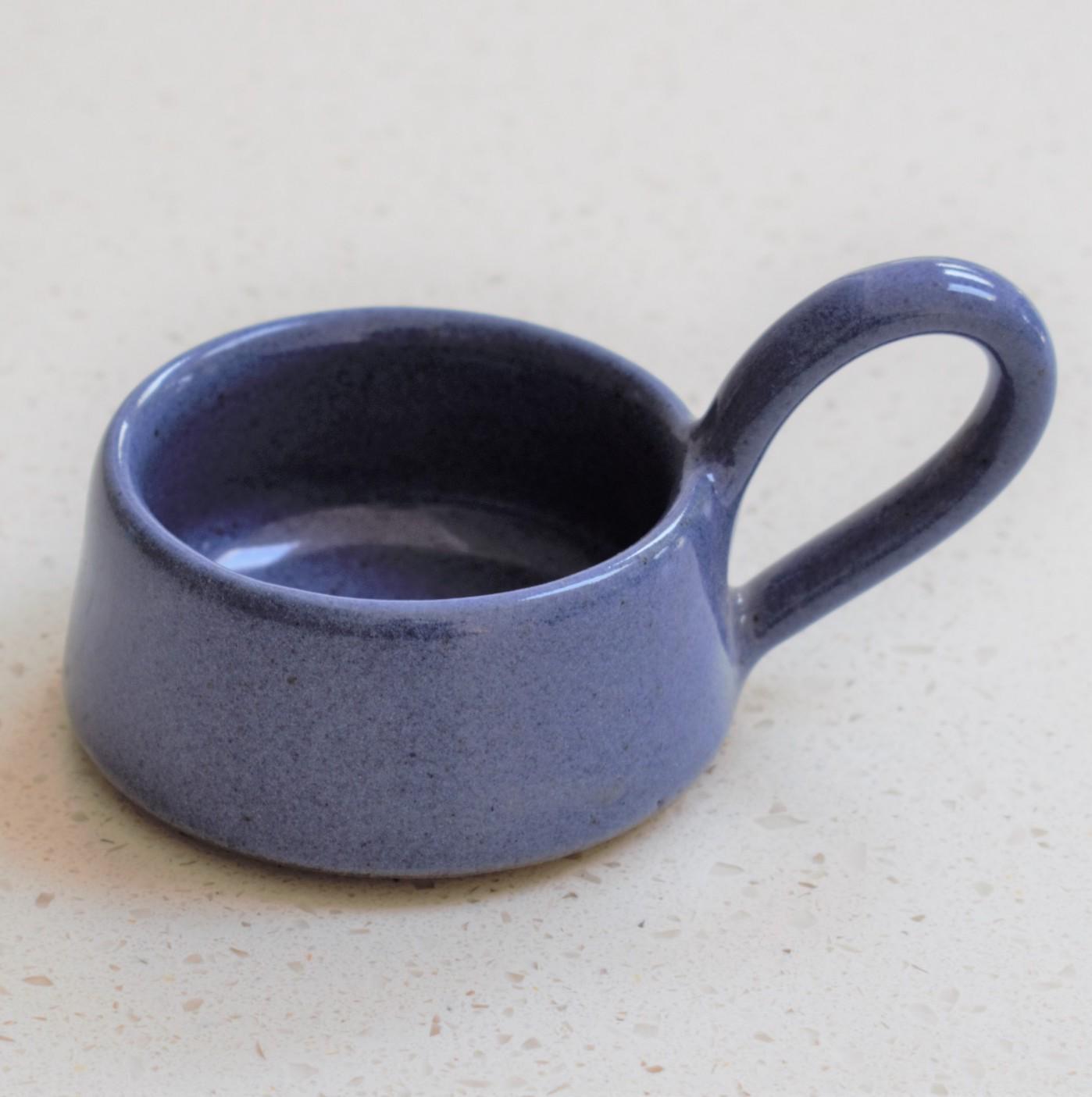 Blue Ceramic Tea Light Cup