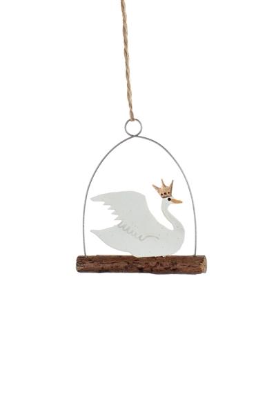 Sale - Regal Swan on a Log Decoration