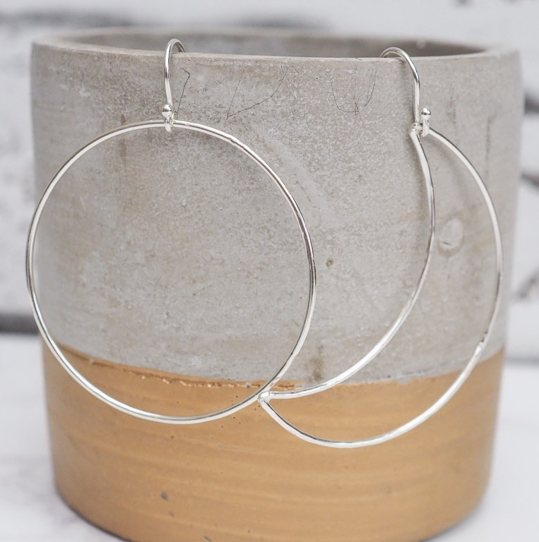 Sterling Silver Sun and Moon Mismatch Earrings by Lucy Kemp