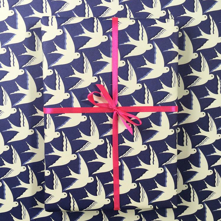 Birds in Flight Gift Wrap by Elvira Van Vredenburgh