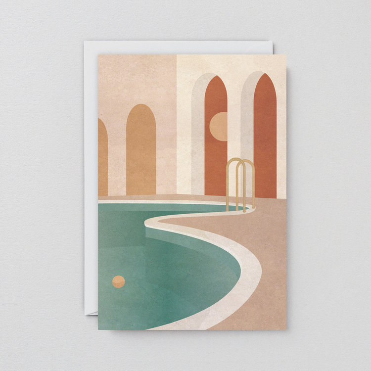 Pool With Arches Art Card by Wrap