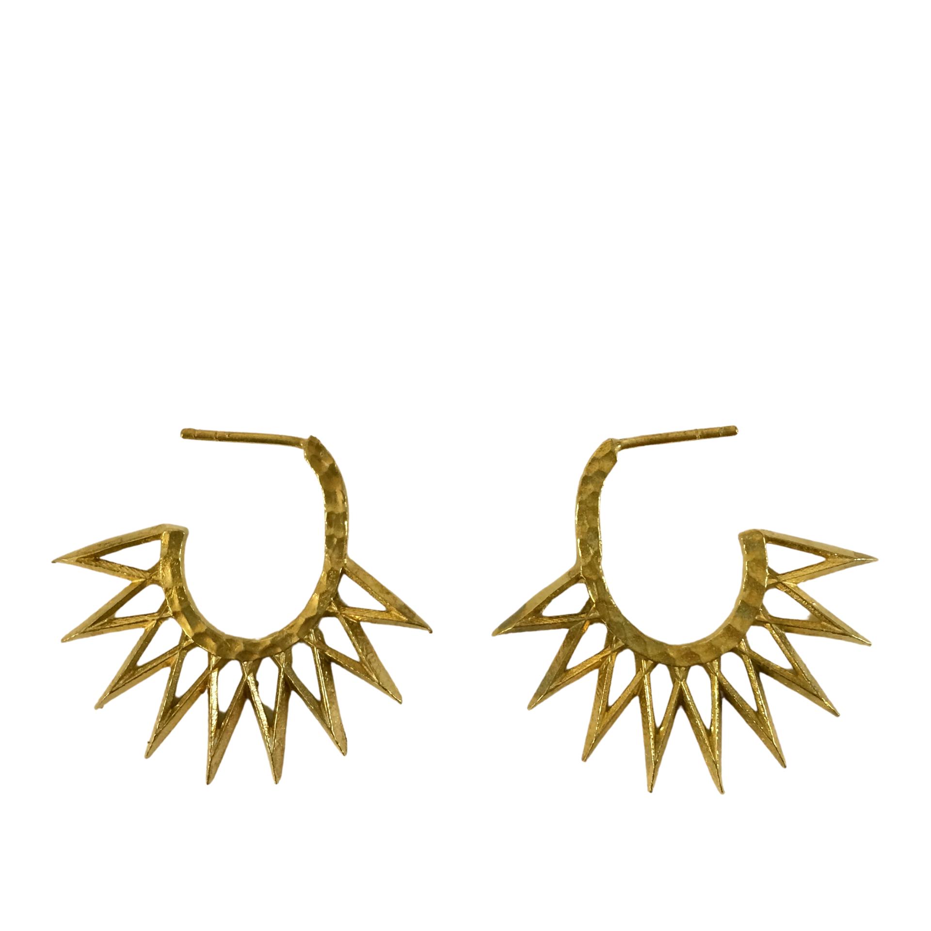 Irth Sunburst Brass Earrings