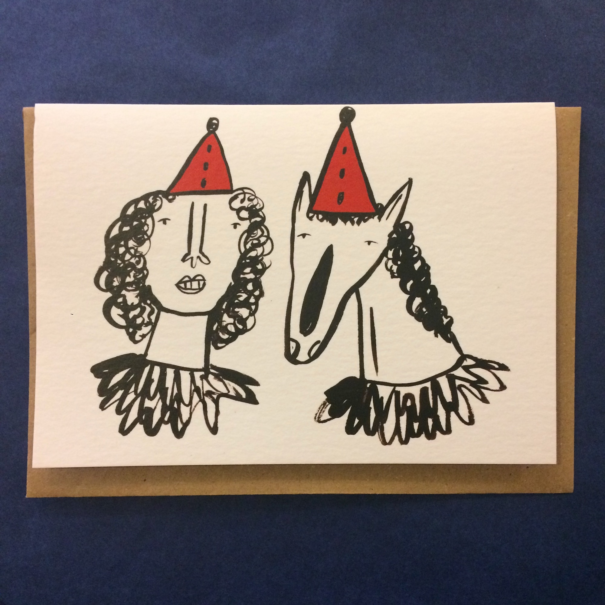 Party Hats Card by Abigail Burch - sale