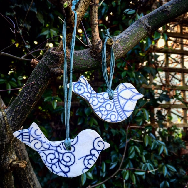 Handmade Ceramic Bird Decoration