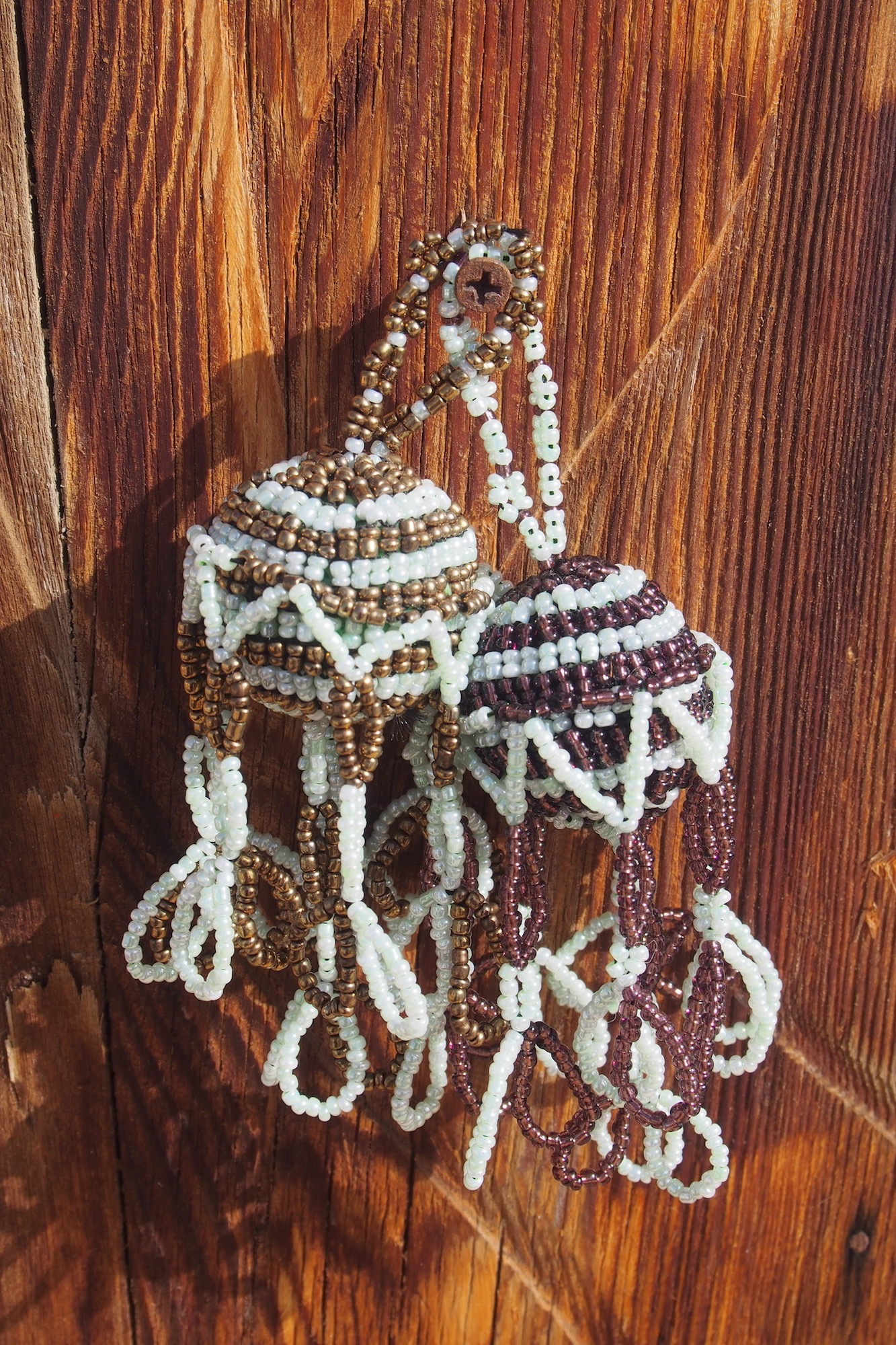Bedouin Beaded Looped Tasselled Bauble