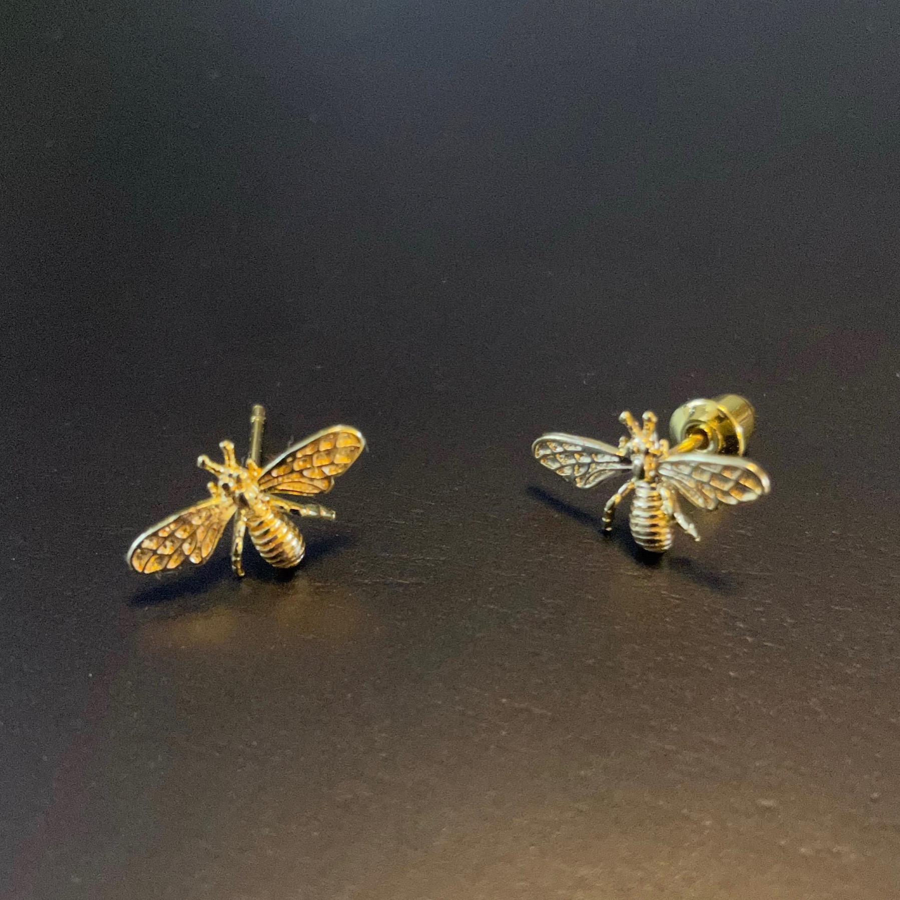 Irth Gold-plated Brass Bee Studs