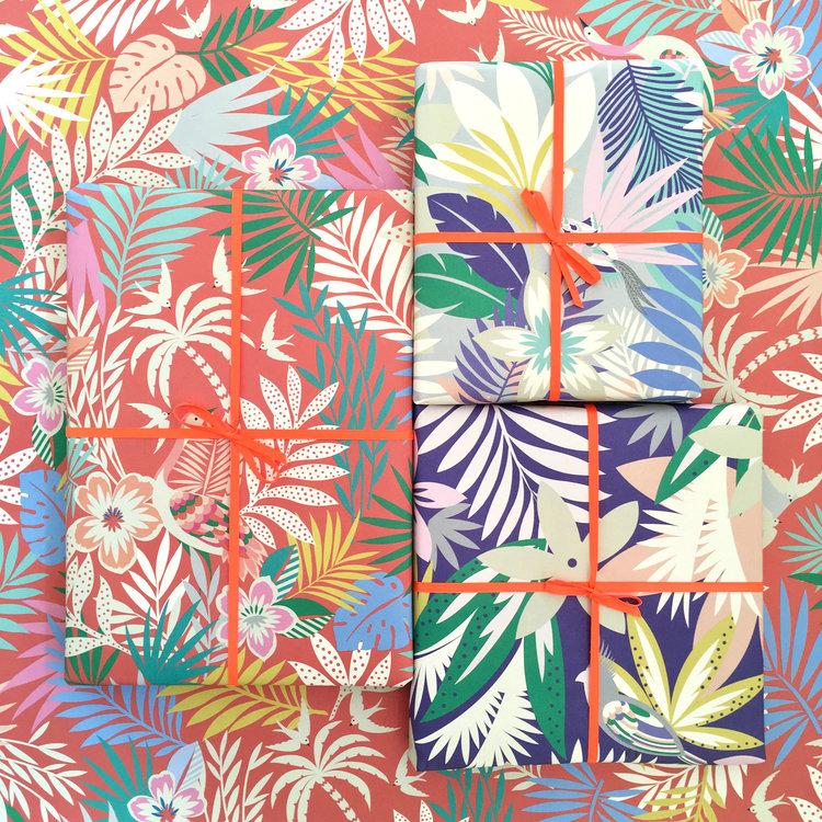 Tropicana Gift Wrap by Elvira Van Vredenburgh