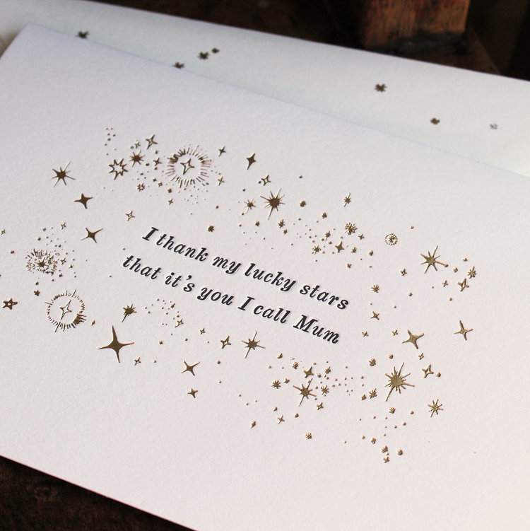 Lucky Stars Mother's Day Card by Artcadia