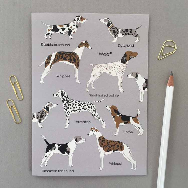 'Woof' Dog Card by Elvira Van Vredenburgh