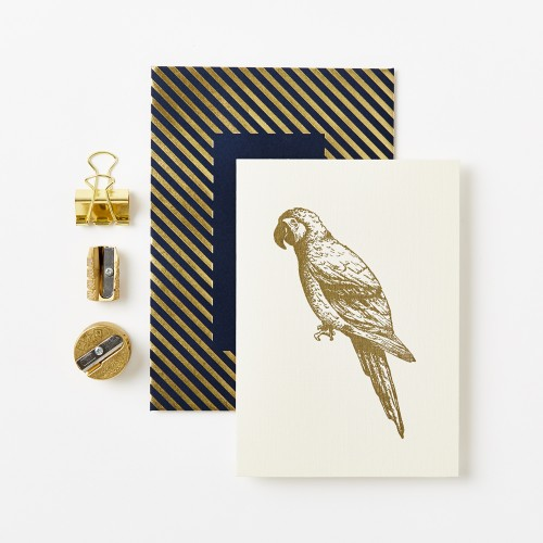 Gold Parrot Luxe Card by Katie Leamon- Sale.