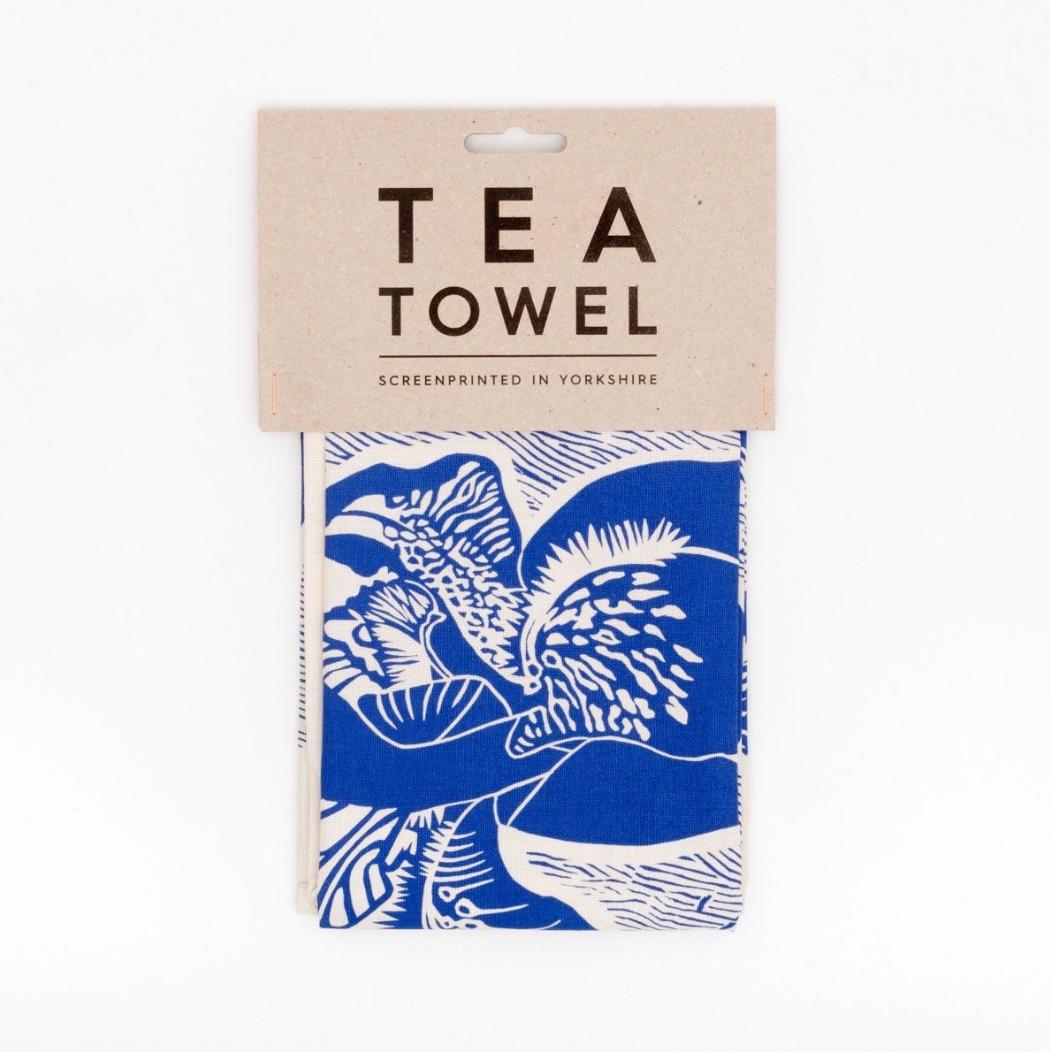 Iris Tea Towel by Studio Wald