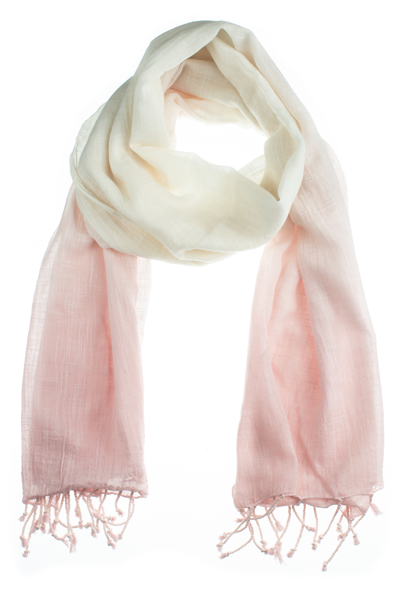 Powder Pink Cloud Cotton Scarf