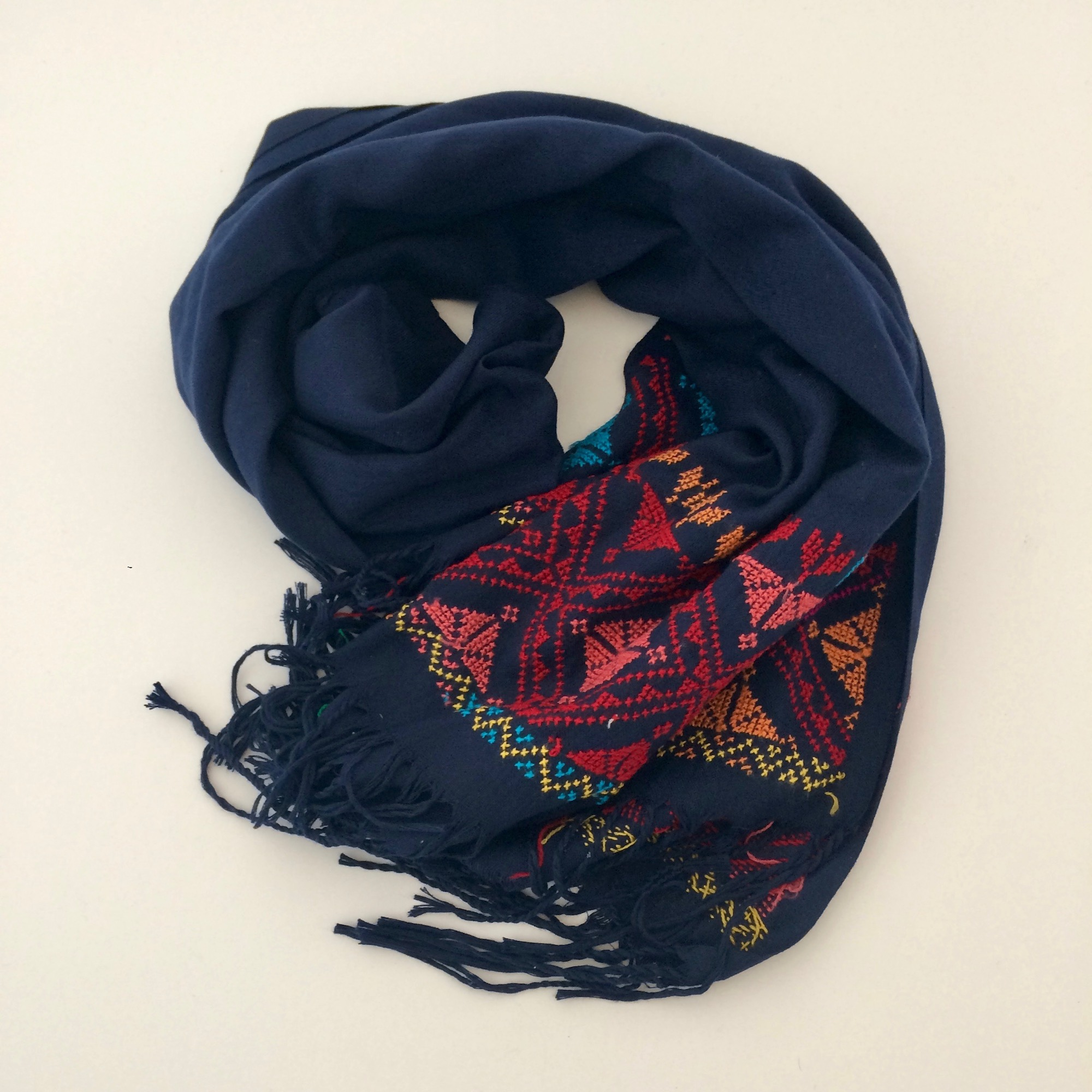 Bedouin Hand-embroidered Pashmina Scarf - various colours