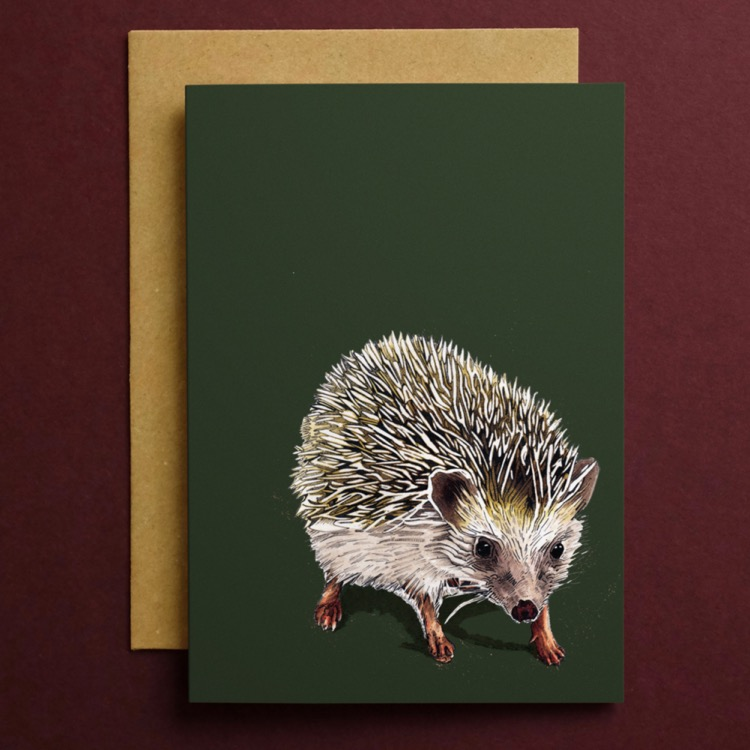 Kimchi the Hedgehog Art Card by Some Ink Nice