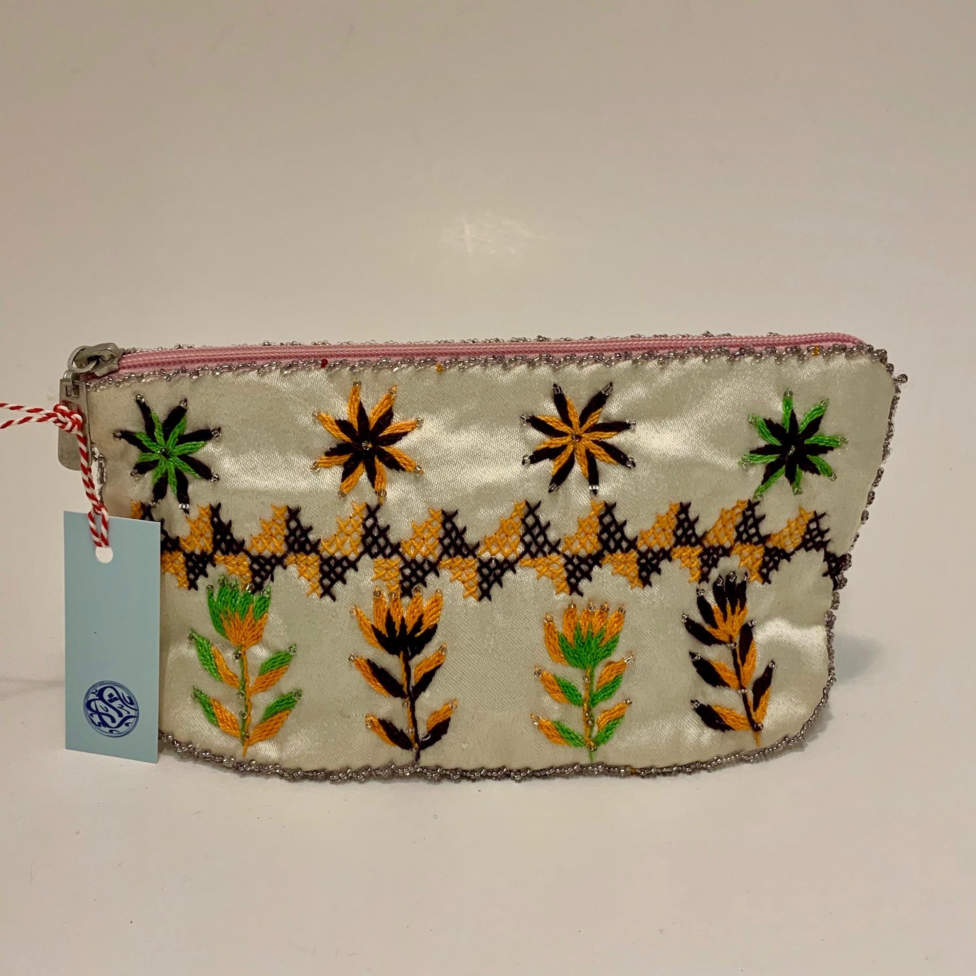 Bedouin Floral Beaded Makeup Bag