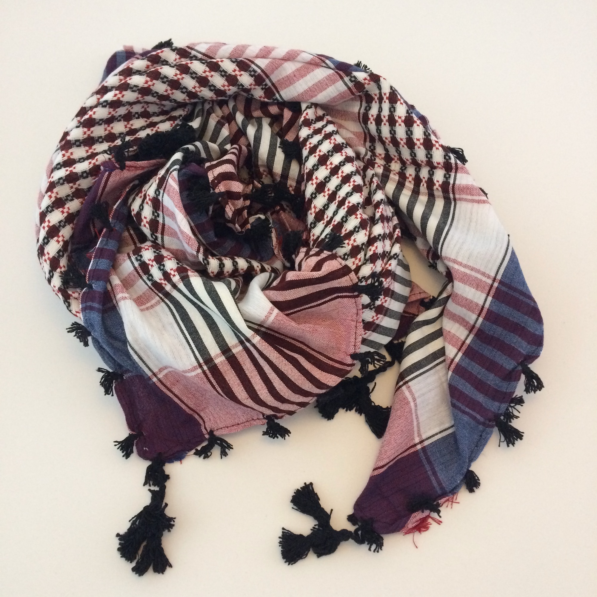 Cotton Shemagh Desert Pink & Grey Scarf