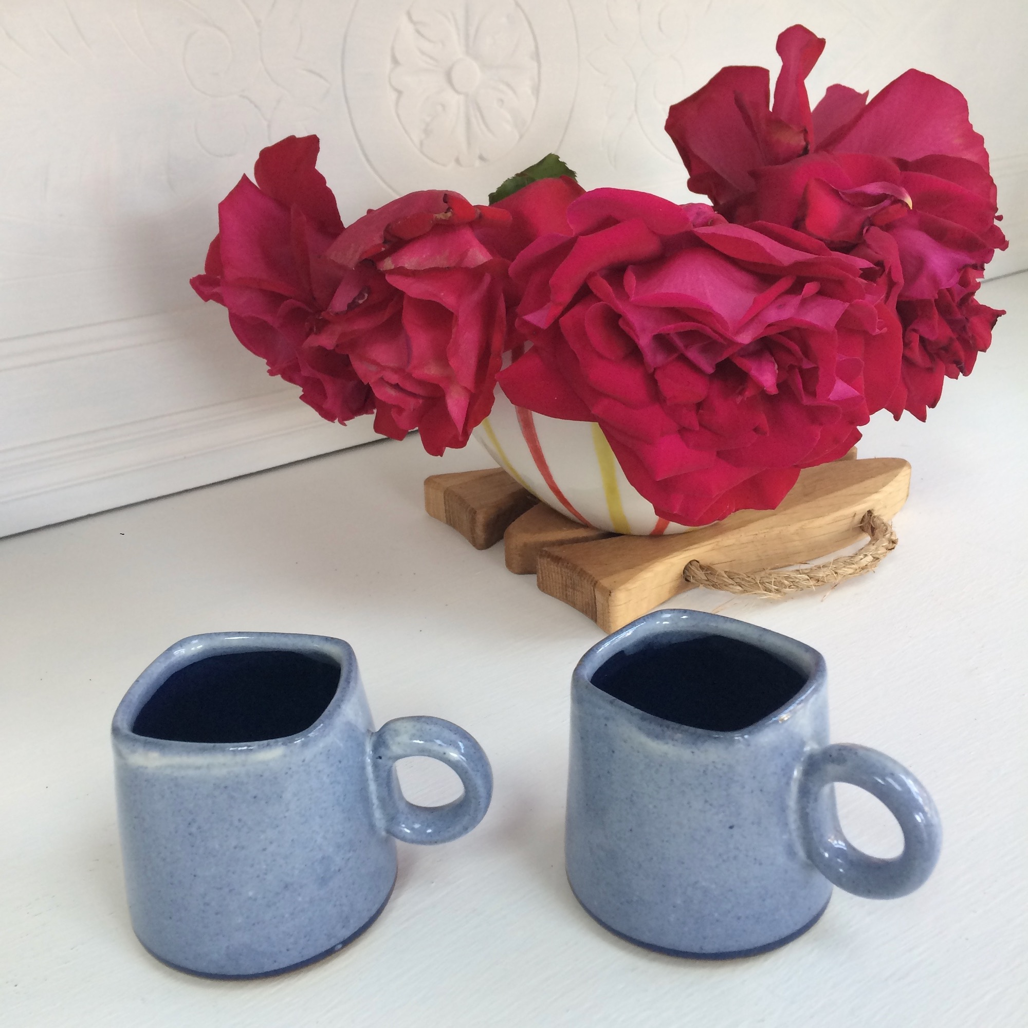 Kaapi Coffee Cup in Enamel Blue