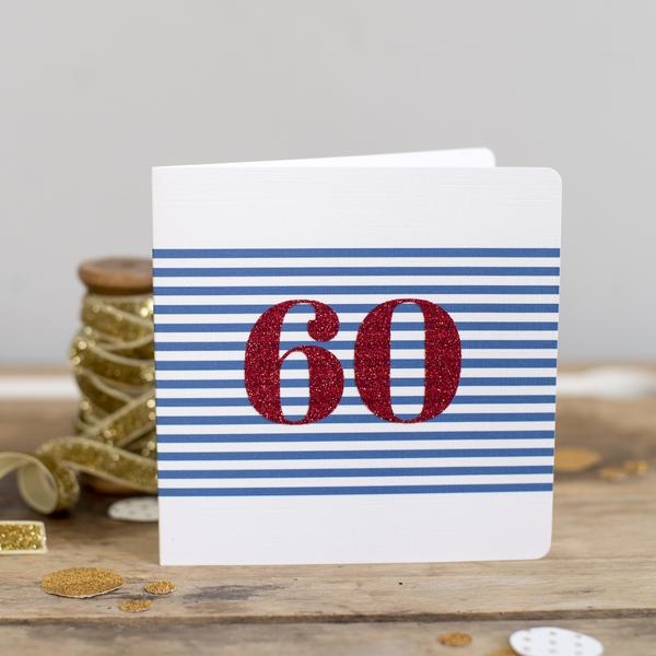 Nautical Glitter Age Card by Oh Squirrel - Sale
