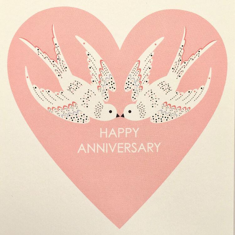 'Happy Anniversary' Card by Elvira van Vredenburgh