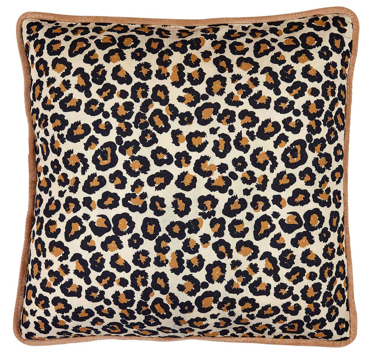 Liv Leo Cotton & Velvet Cushion