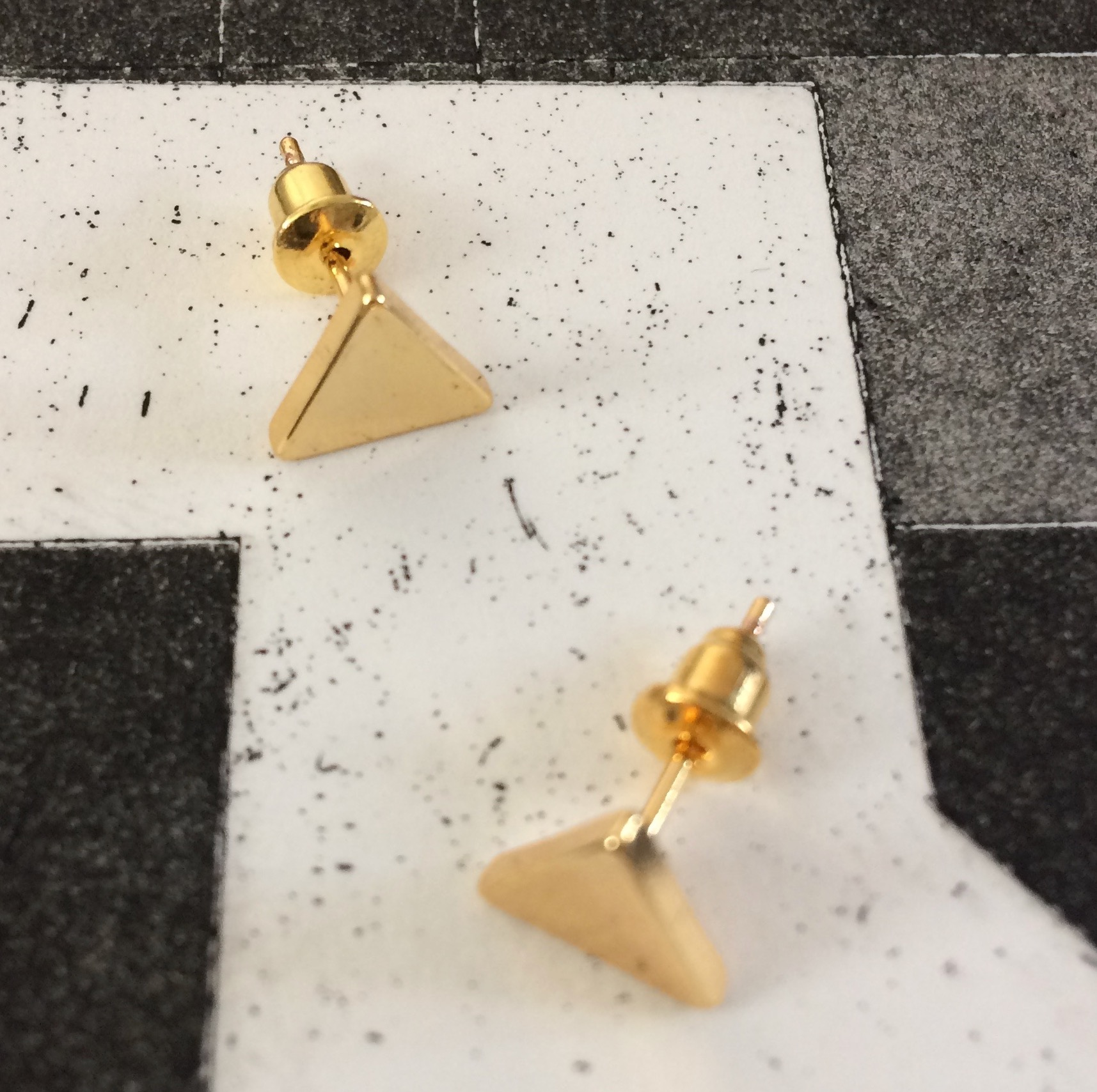 Irth Gold-plated Brass Triangle Studs - Sale!