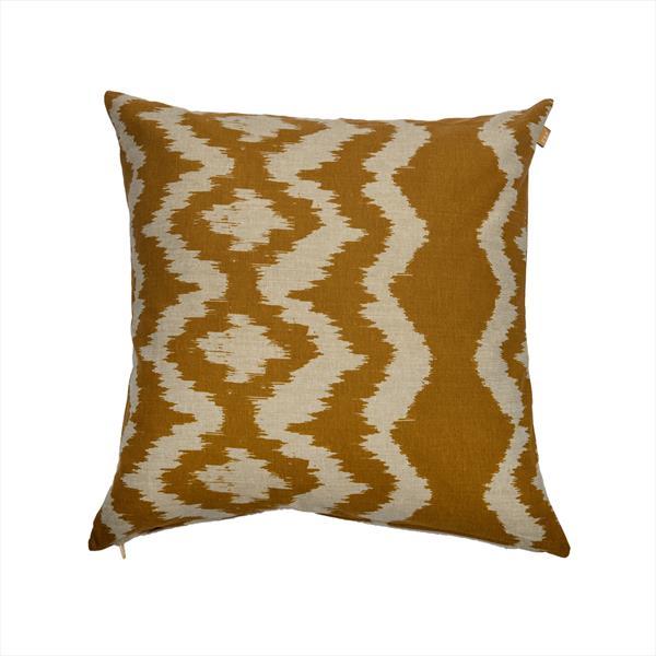 Mustard Yellow Ikat Cushion by Raine & Humble