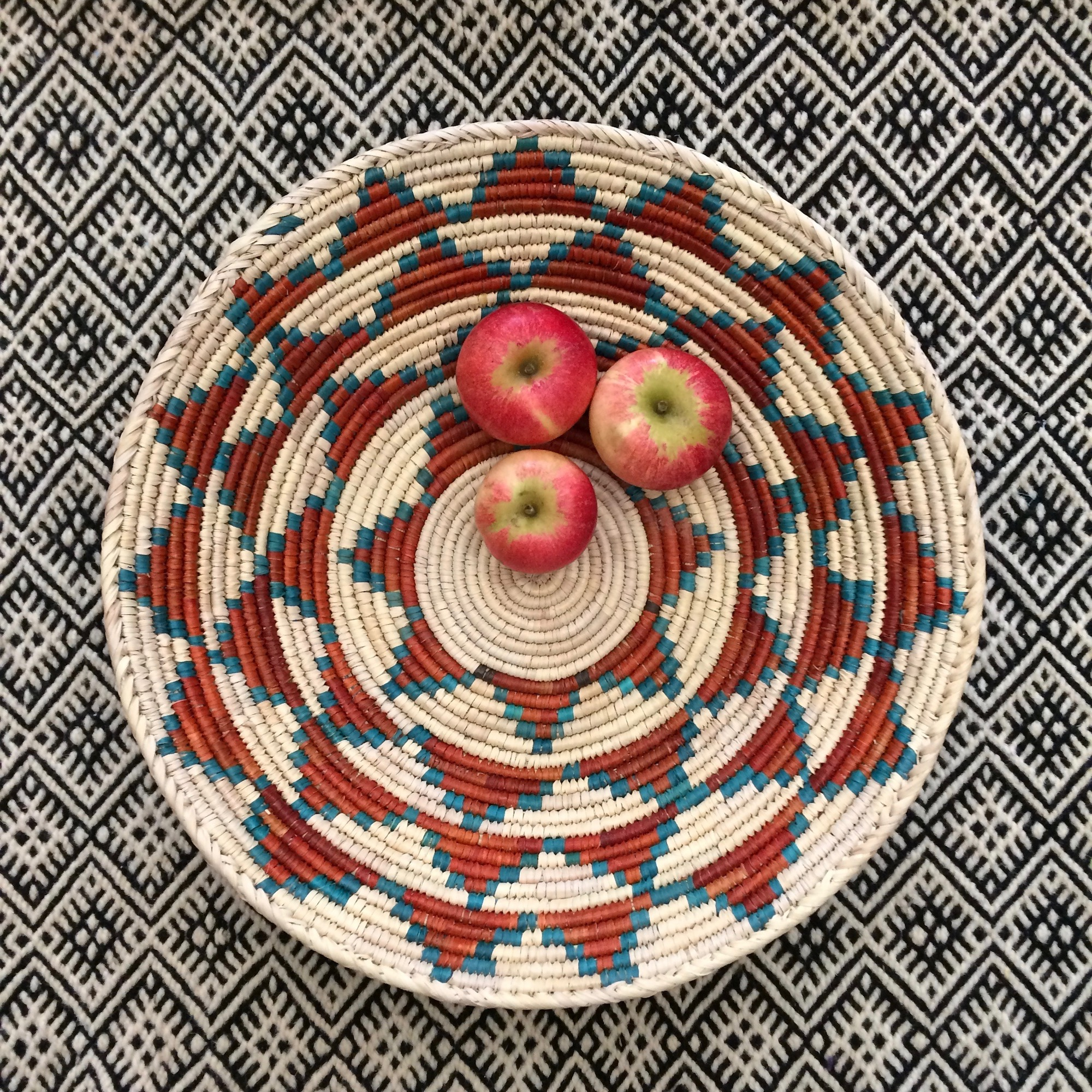 Large Handwoven Patterned Basket